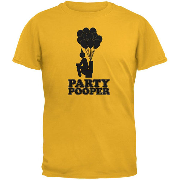Funny Party Pooper Gold Adult T-Shirt