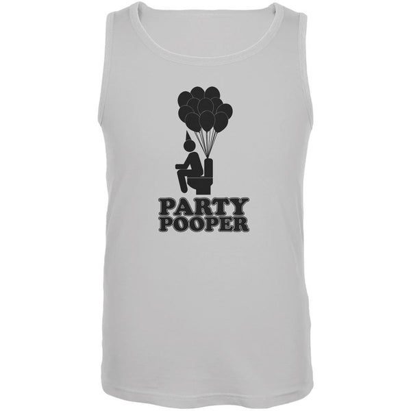 Funny Party Pooper White Adult Tank Top