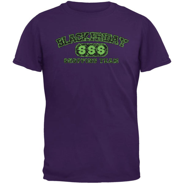 Black Friday Shopping Team Purple Adult T-Shirt