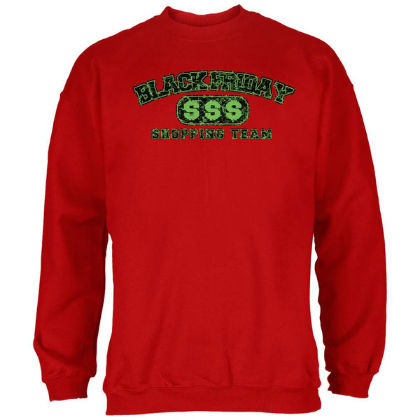 Black Friday Shopping Team Red Adult Sweatshirt