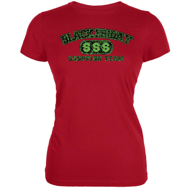 Black Friday Shopping Team Red Juniors Soft T-Shirt