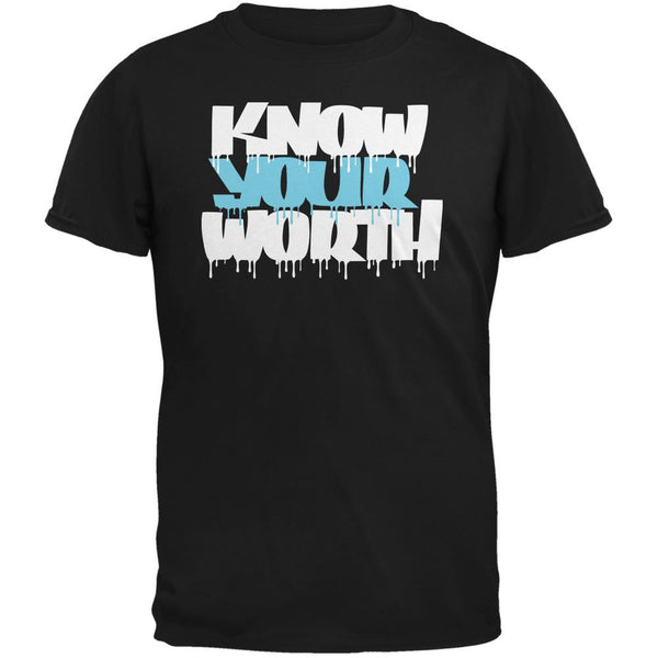 Know Your Worth Black Adult T-Shirt