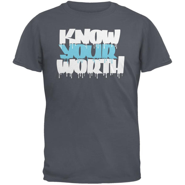 Know Your Worth Charcoal Grey Adult T-Shirt