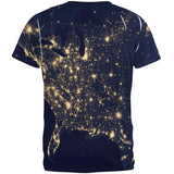 Outer Space Earth At Night All Over Adult T-Shirt