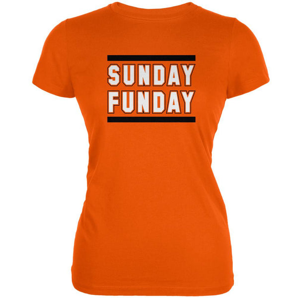 Sunday Funday Cincinnati Orange Juniors Soft T-Shirt