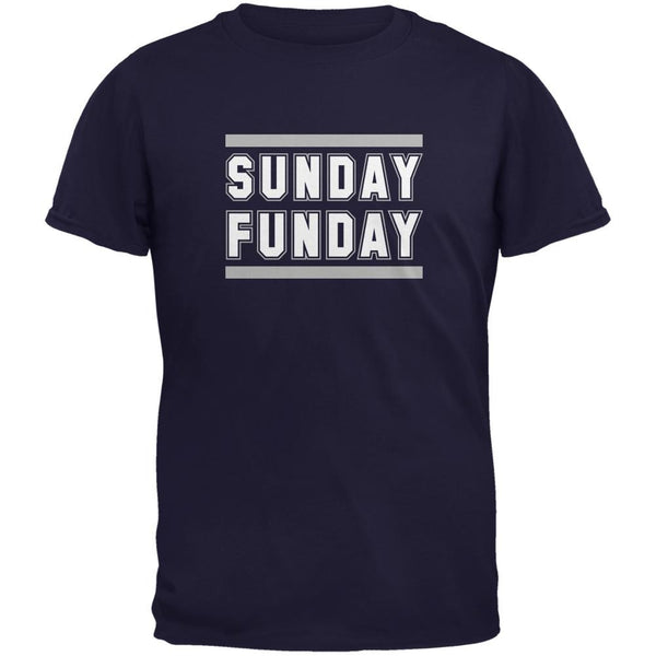 Sunday Funday Dallas Navy Adult T-Shirt