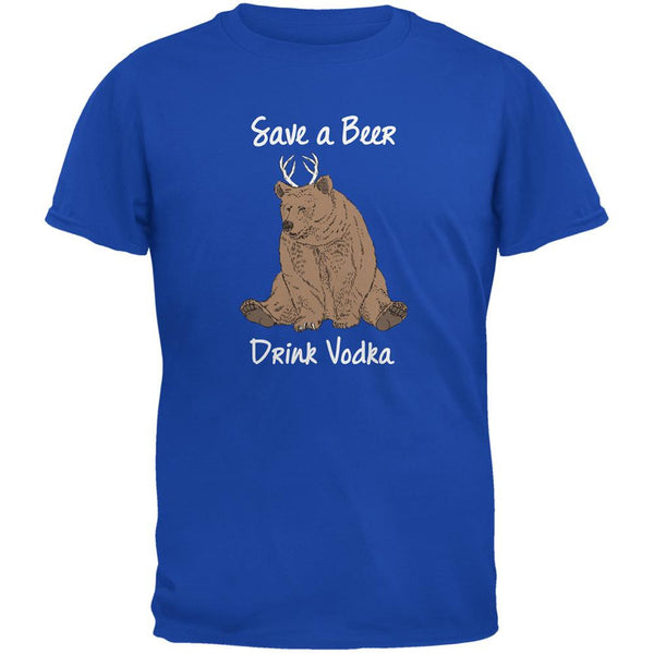 Save a Beer Drink Vodka Royal Adult T-Shirt