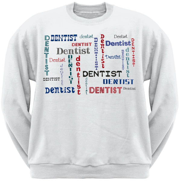 Dentist Repeat Print Adult Sweatshirt