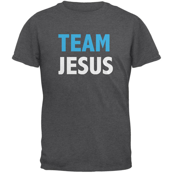 Team Jesus Dark Heather Adult T-Shirt