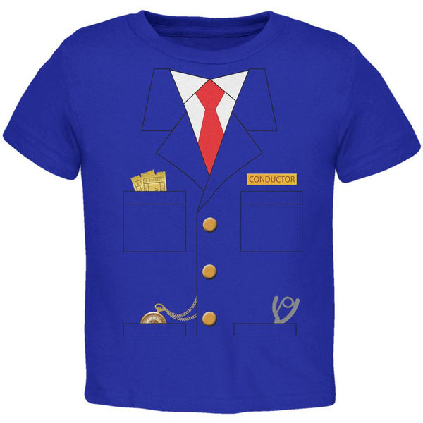 Halloween Train Conductor Costume Royal Toddler T-Shirt