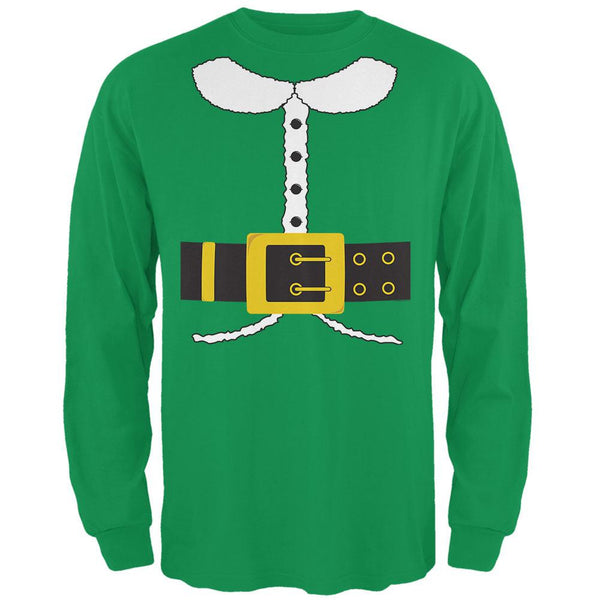 Holiday Elf Costume Irish Green Adult Long Sleeve T-Shirt
