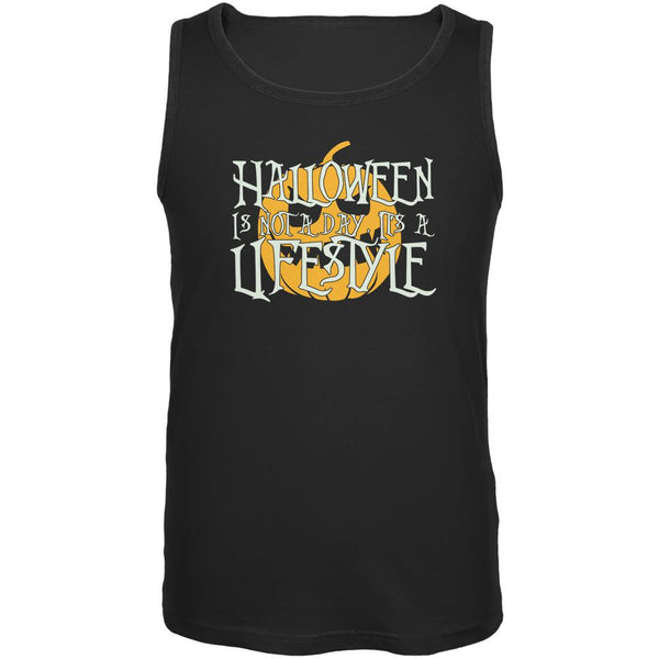 Halloween Lifestyle Black Adult Tank Top