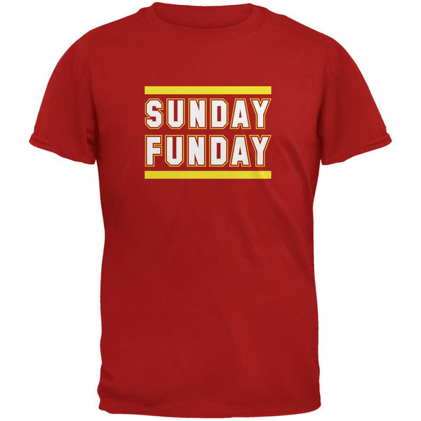 Sunday Funday Kansas City Red Adult T-Shirt