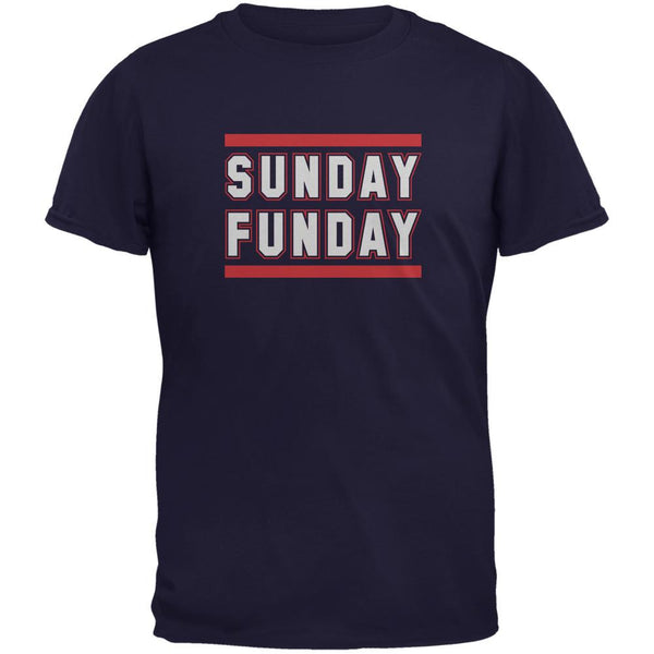 Sunday Funday New England Navy Adult T-Shirt
