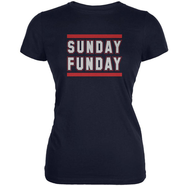 Sunday Funday New England Navy Juniors Soft T-Shirt