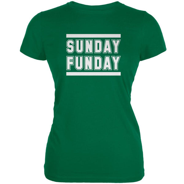Sunday Funday New York Kelly Green Juniors Soft T-Shirt