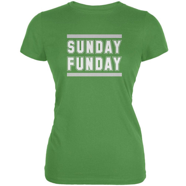 Sunday Funday Philadelphia Leaf Juniors Soft T-Shirt
