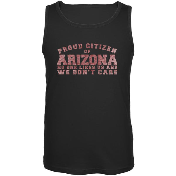 Proud No One Likes Arizona Black Adult Tank Top