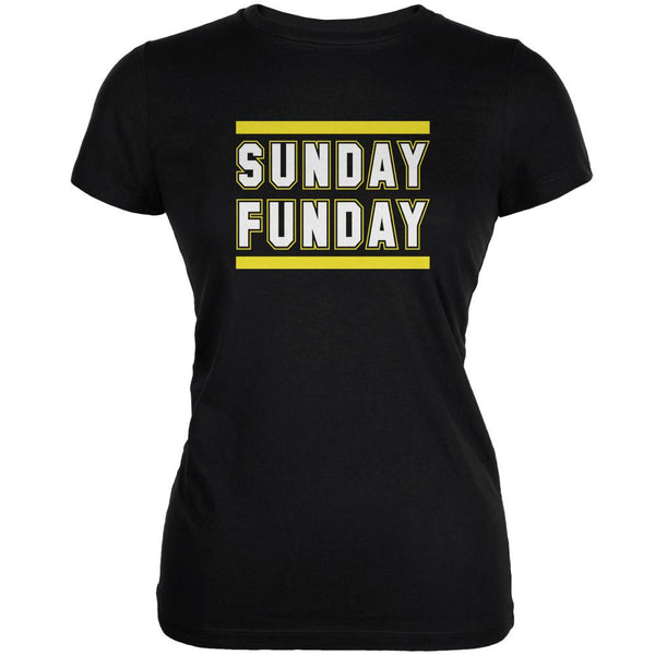 Sunday Funday Pittsburgh Black Juniors Soft T-Shirt