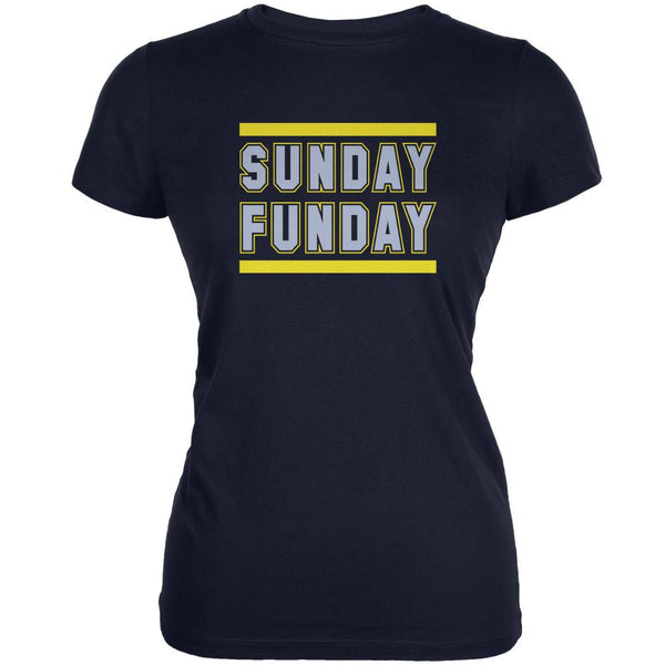 Sunday Funday San Diego Navy Juniors Soft T-Shirt