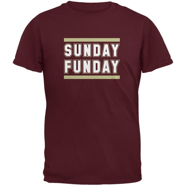 Sunday Funday Tampa Bay Maroon Adult T-Shirt