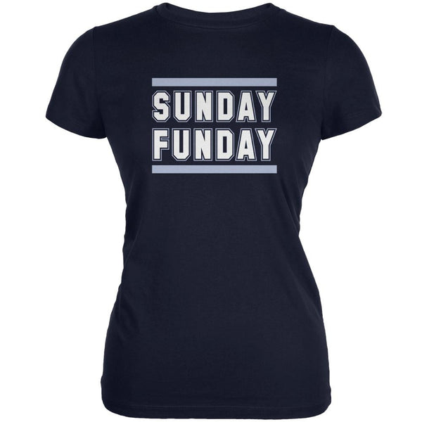 Sunday Funday Tennessee Navy Juniors Soft T-Shirt