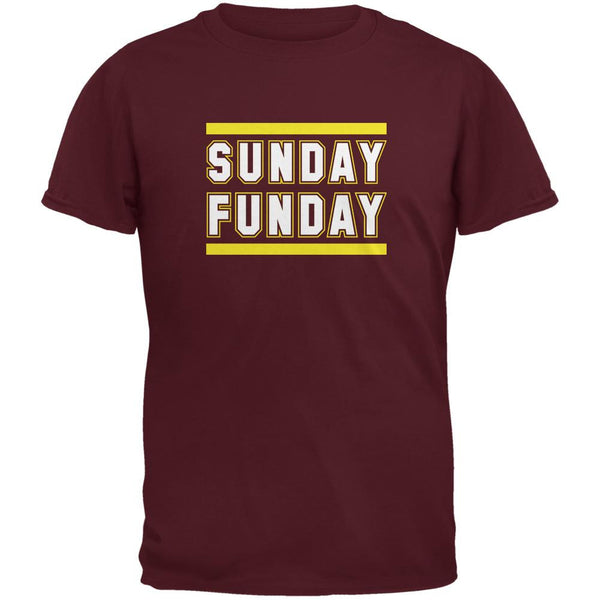 Sunday Funday Washington Maroon Adult T-Shirt