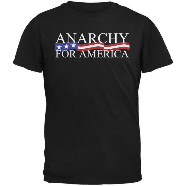 Election Anarchy for America Black Adult T-Shirt
