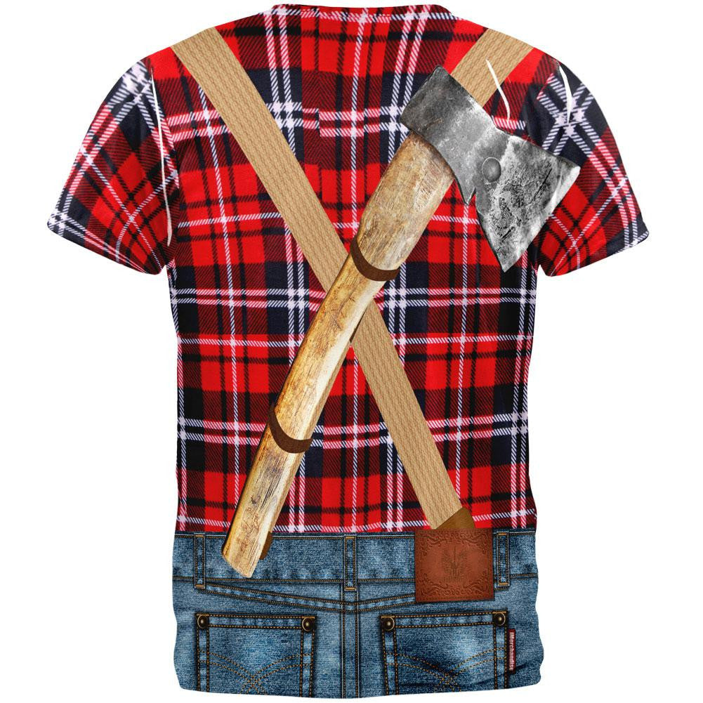 ... Halloween Lumberjack Costume All Over Adult T-Shirt ...  sc 1 st  Old Glory & Halloween Lumberjack Costume All Over Adult T-Shirt u2013 OldGlory.com