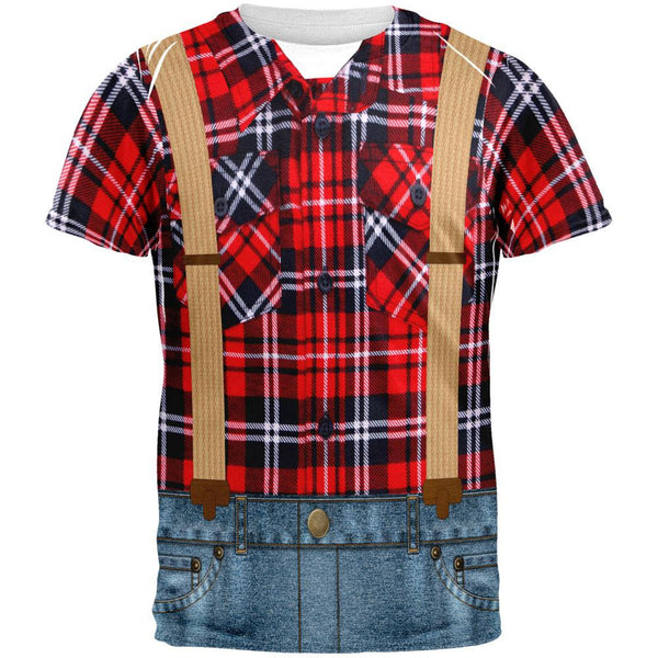 Halloween Lumberjack Costume All Over Adult T-Shirt