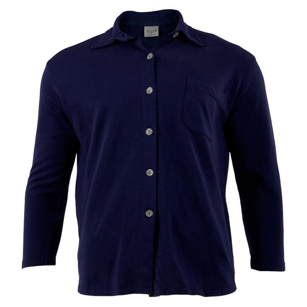 Varsity Sport - Blue Adult Button-Up Long Sleeve T-Shirt