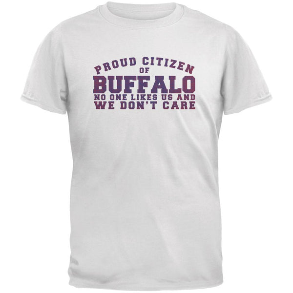Proud No One Likes Buffalo White Youth T-Shirt