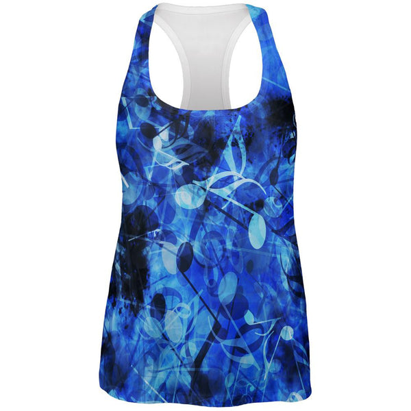 Blues Music Medley All Over Womens Tank Top