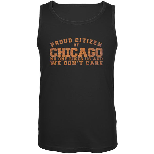 Proud No One Likes Chicago Black Adult Tank Top