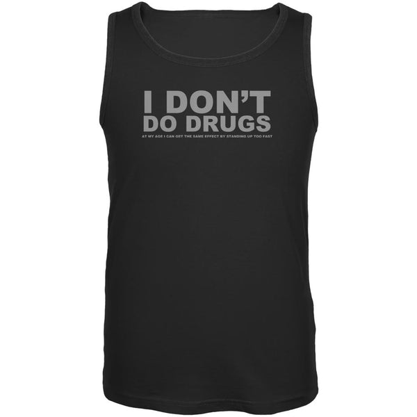 Do Not Do Drugs Old Age Funny Black Adult Tank Top