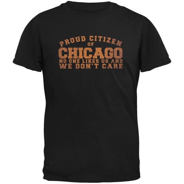 Proud No One Likes Chicago Black Youth T-Shirt