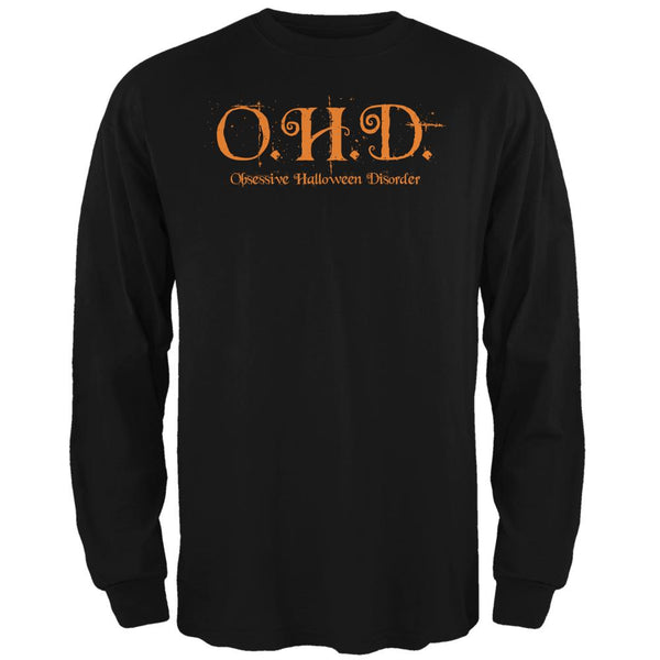OHD Obsessive Halloween Disorder Black Adult Long Sleeve T-Shirt