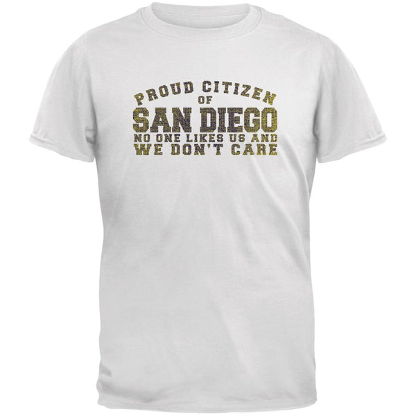Proud No One Likes San Diego White Youth T-Shirt