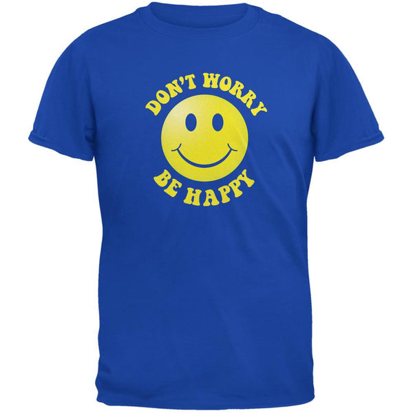 Don't Worry Be Happy Royal Adult T-Shirt