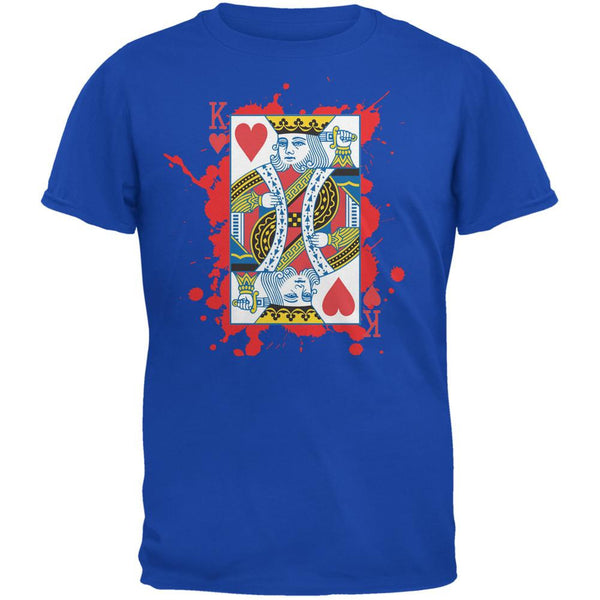 Suicide King of Hearts Royal Adult T-Shirt