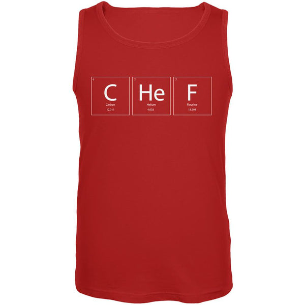 Chef Periodic Table Red Adult Tank Top