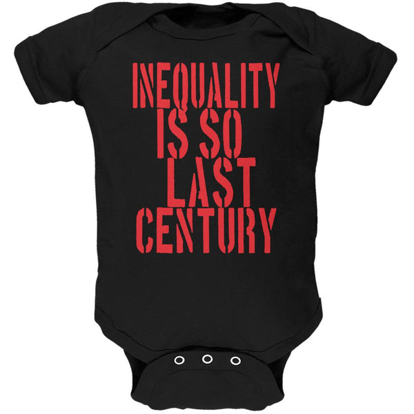 Inequality is so Last Century Black Soft Baby One Piece