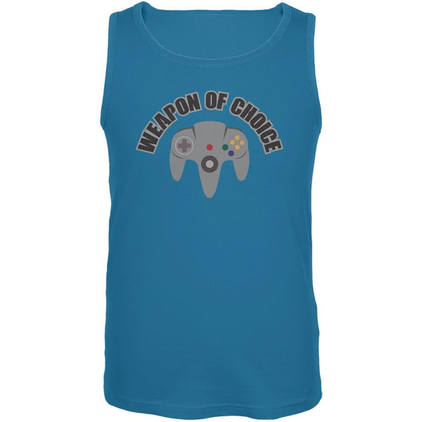 Gamer Weapon Of Choice Turquoise Adult Tank Top