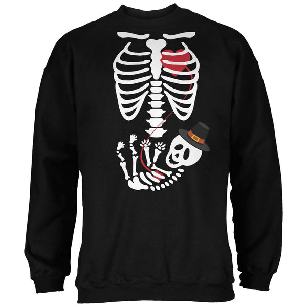 Halloween Pilgrim Baby Skeleton Black Adult Sweatshirt