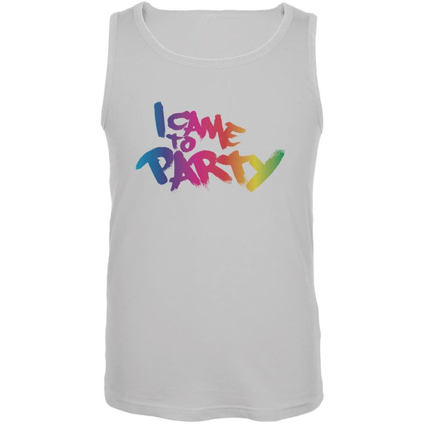 I Came To Party White Adult Tank Top