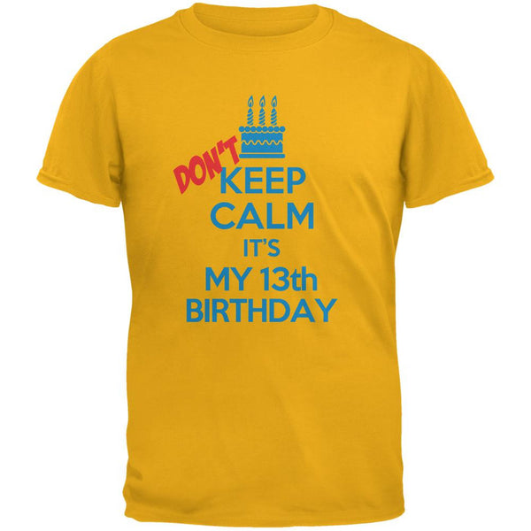 Don't Keep Calm 13th Birthday Boy Gold Youth T-Shirt