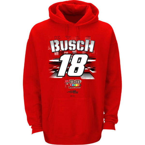 Kyle Busch - 18 Fan Up Adult Pullover Hoodie