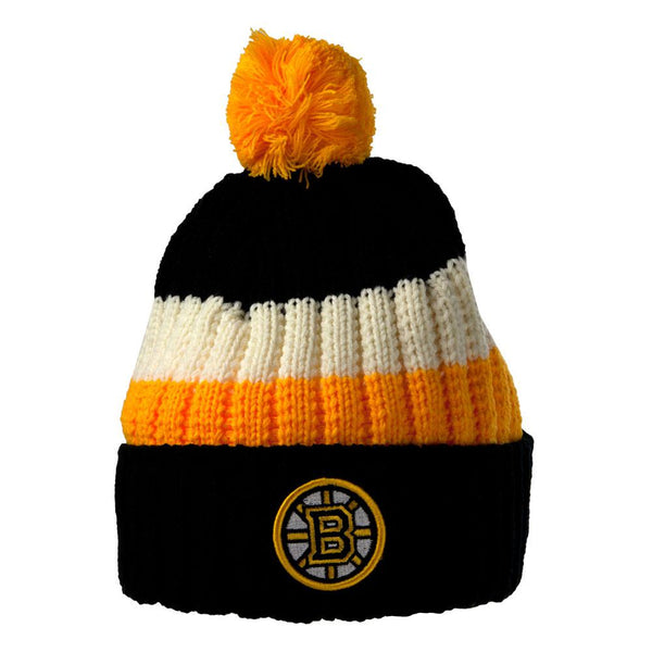Boston Bruins - Logo Slope Adult Pom Pom Knit Hat