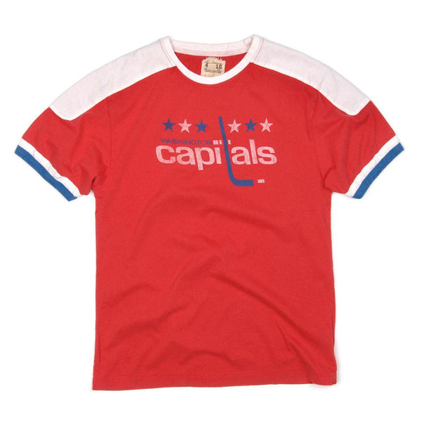 Washington Capitals - Star Logo Remote Control Red Adult Jersey T-Shirt