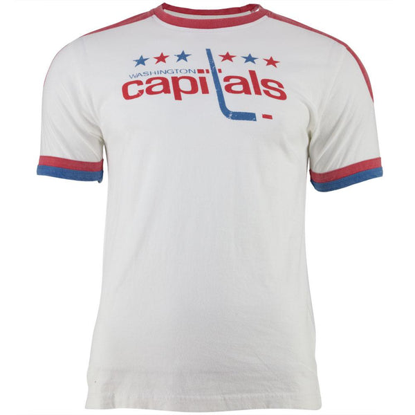 Washington Capitals - Star Logo Remote Control White Adult Jersey T-Shirt
